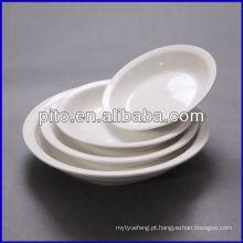 Fábrica de porcelana P & T, placas de sopa de porcelana, placas redondas profundas