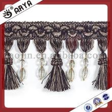 Frange en perles en perles de rideau noir
