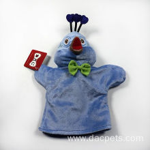 soft velour peacock hand puppet