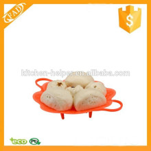 Eco-Friendly Factory Price Silicone Flexible Cooking Steamer with Handle