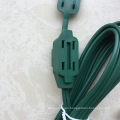 multiple length 3 Outlet Indoor Flat Plug Extension Cord  16/2 SPT-2, White, 2 Prong Polarized