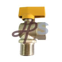 haute qualité en aluminium poignée en laiton à gaz robinet à bille pour la vente en gros