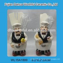 Nuevo titular de utensilios de cerámica de diseño de cocinero