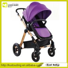 China Baby Stroller Fabricante Adjustable Backrest Footrest Assento reversível Air inflated rodas giratórias com Suspensão