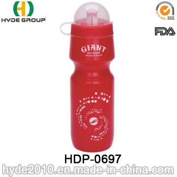 Garrafa de água portátil bebendo dos esportes plásticos livres do PE de BPA (HDP-0697)