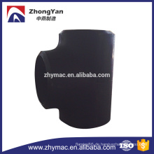 C-Stahl Rohr fitting, c-Stahl Stumpf gerades t-Stück