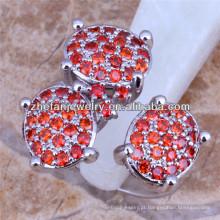 anel de pedra de três design anel de diamante vermelha anéis de casamento de dubai