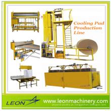 Refrigerador de ar LEON usado máquina de fabricação de almofada de resfriamento de papel evaportiva
