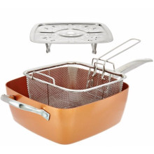 Tastic Bundle 4 Stück Kochgeschirr Set Keramik Pan, Kupfer