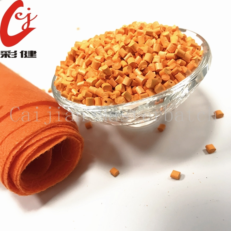 Granules Masterbatch couleur orange en nylon