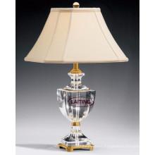 Lámpara de mesa de cristal de la lámpara de mesa llevada única blanca, lámpara de escritorio de la tela 2143