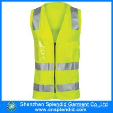 Preço razoável High Visibility Clothing com tecido de malha colete de segurança