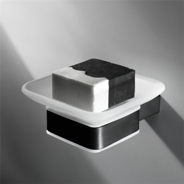 HIDEEP Stainless Steel Bathroom Black Soap Dish Holder