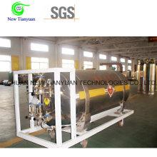 200L Capacité nominale 500mm Diamètre LNG Cylindre de réservoir de véhicule