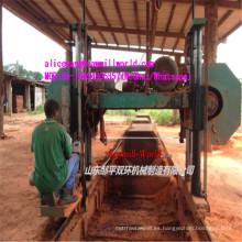 Máquina de sierra de cinta horizontal de sierra de banda grande