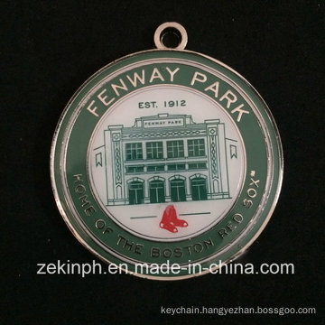 Products with Soft Enamel Round Shaped Fenway Park Medal