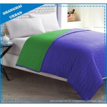 Conjunto de roupa de cama com colcha de poliéster verde roxo