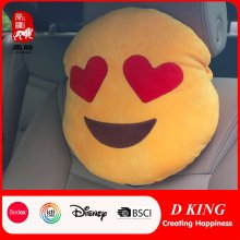 Caliente venta personalizada almohadilla de cuello de coche de juguete almohada Emoji