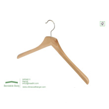 Natural Clothes Hanger for Wholesale with Notches Top Hanger Wood