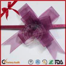 Colorful Organza Ribbon Bow for Gift Decorations