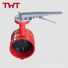 Válvula de borboleta ranhurada para combate a incêndio