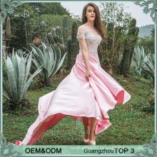 Applikationen rosa Frauen vestidos de Fiesta Abendkleid Gold Lieferanten Guangzhou Abendkleid