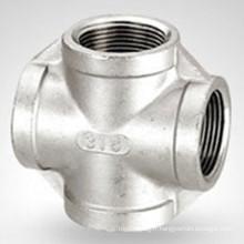 150lb Bsp / NPT Croix en acier inoxydable fileté hydraulique