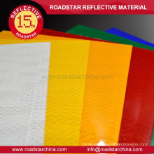 Durable high vis reflective sheeting material