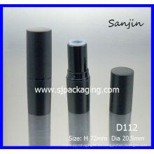 Simple Lápiz labial Tubo cilíndrico Lipstick tubo de embalaje cosméticos paquete de cosméticos lápiz labial negro mate