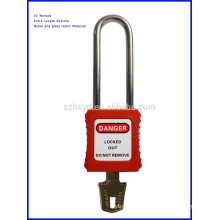 Red Color Extra Length Shackle Safety Padlock With CE Marked