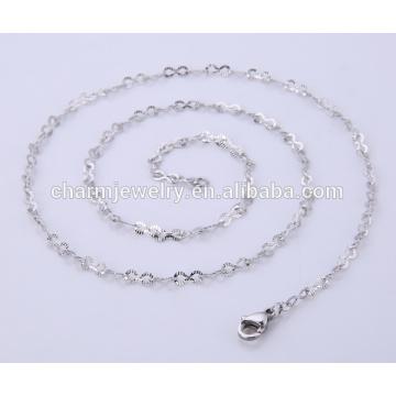 Collar de la joyería del diseño simple cadena del acero inoxidable para la señora BSL004-1
