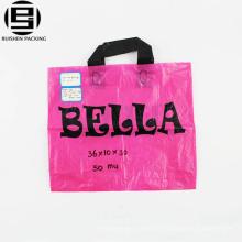 Großhandel hochwertige hersteller benutzerdefinierte weiche schleife griff polyethylen PE kunststoff einkaufstasche