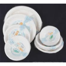 Disposable Paper Pulp Tableware Paper Bowl Paper Plate
