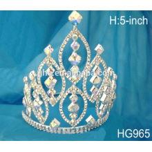 Verschiedene Hochzeit Tiaras gefrorene Tiara Perle Schönheit Festzug Krone, beleuchtete Tiara
