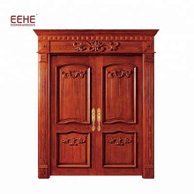 main door exterior double door design teak soild wooden door
