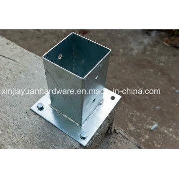 Plaque d'ancrage au sol revêtue de PVC / galvanisé, plaque d'acier, plaque de poteau