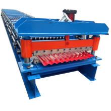 Máquina antigua de rollo de panel de metal corrugado