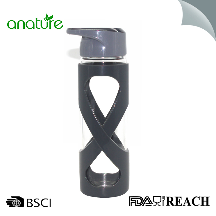 24oz Glass Water Bottle With Silicone Sleeve