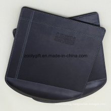 Customized Logo Embossed PU Leather Mouse Pad with Write Rest