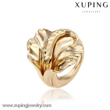 12866 China Großhandel Xuping Fashion Elegante 18 Karat Gold Perle Frau Ring