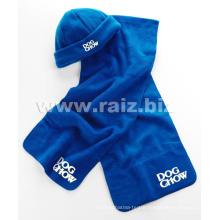 Polar Fleece Promotion Items Scarf and Hat Set