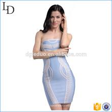 Western-Design mit chinesischen Elementen wickeln Kleid Fitness Bandage Großhandel Kleid