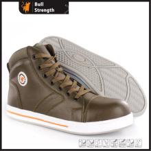 Chaussure de sécurité plat en cuir pleine fleur avec embout en Composite (SN5472)