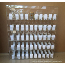 Tobacco Shop Units 50 Automotive Pushers 5-Layer Countertop Clear Acrylic Cigarette Display Cabinet