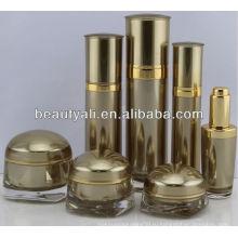 Квадратные формы Роскошные акриловые банки для косметической упаковки