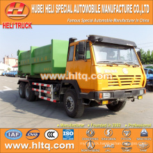 SHACMAN AOLONG hook lifting refuse truck 6x4 290hp 16CBM factory sale reasonable price first-rate