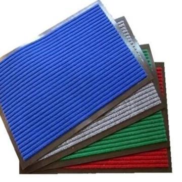 Estera de PVC con nervaduras para uso comercial (acanalado, velour + respaldo de PVC)