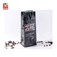 Saco de café 250g impresso personalizado com válvula de ar