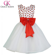 2015 Grace Karin Sleeveless Cheap Flower Girl Dress White CL007551-1