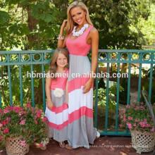 оптом мама и я платье, мода и великолепный бутик-платье без рукавов мать и детская одежда